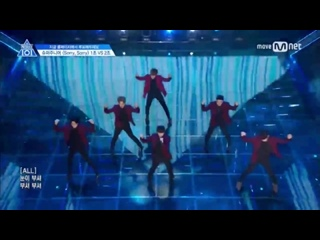 [PERF.] 170428 Выступление первой команды с Sorry Sorry  Super Junior - EP.4 Produce 101  Mnet Official
