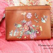 Клатч «Весенние цветы». рисунок для примера