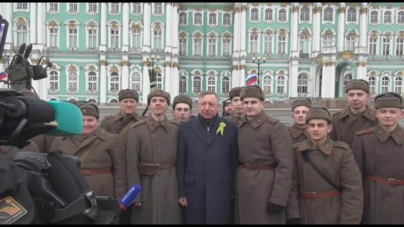 Как Беглов ел кашу с простым народом и пил чай из солдатской кружки Праздник освобождения Ленинграда Санкт-Петербурга от блокады