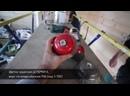 Браширование бруса клееного нейлоновой чашечной щеткой Осборн Д150 с зерном Р46, брашируем дом.