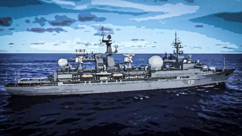 В Тихом океане прошли учения с участием боевых кораблей