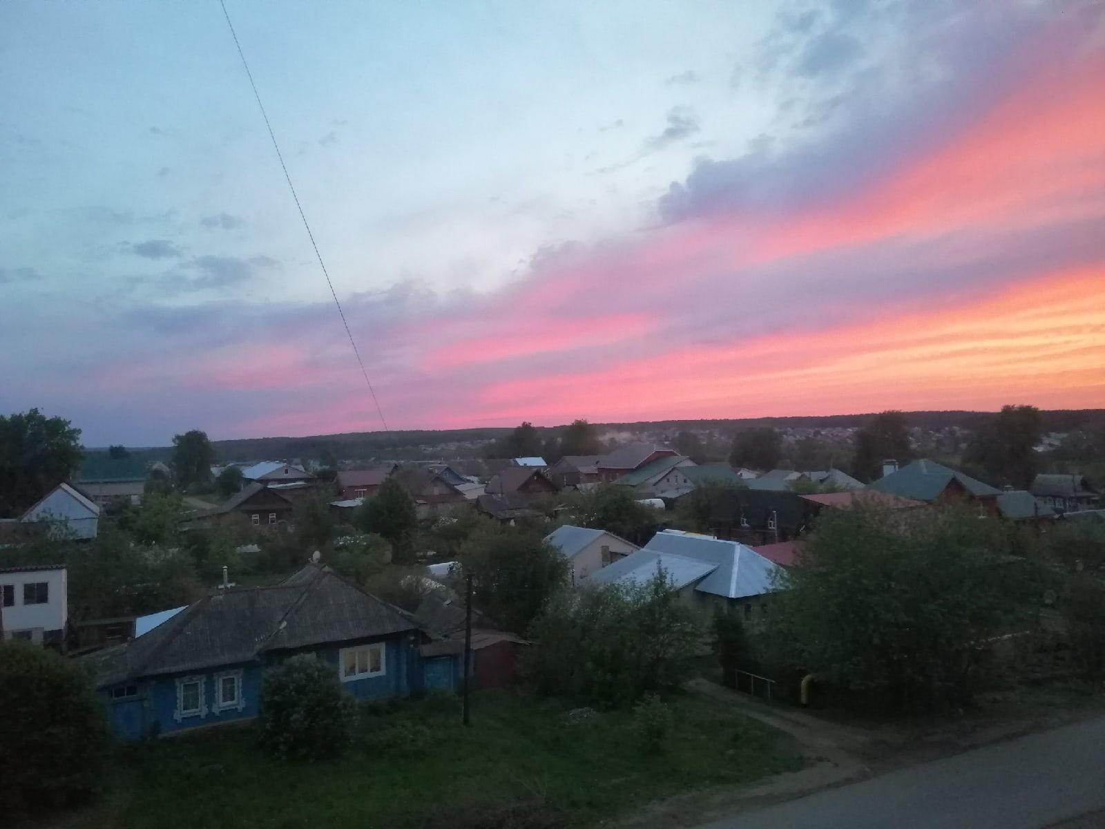 Вид на Дубительский закат.Спокойной ночи, Можгатудей!