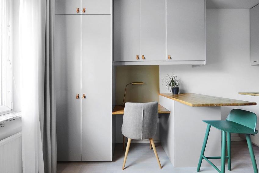 Интерьер маленькой шведской квартиры-студии всего 16 кв.