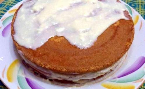 """Торт """"Елочка"""" с киви из готовых бисквитных коржей"""
