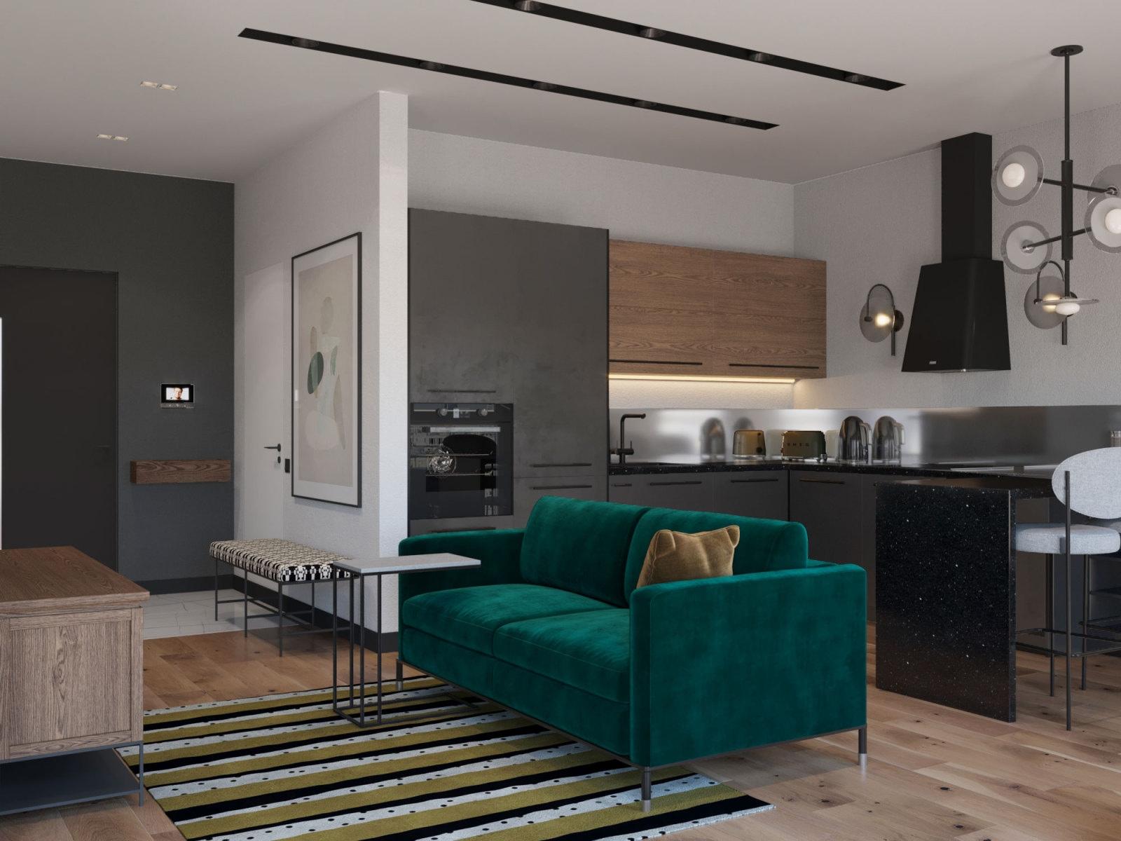 Проект квартиры почти 46 кв.