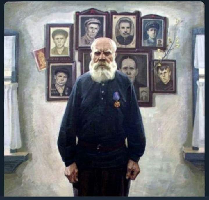 Отец восьми погибших сыновей Никанор Фёдорович Сидоров.