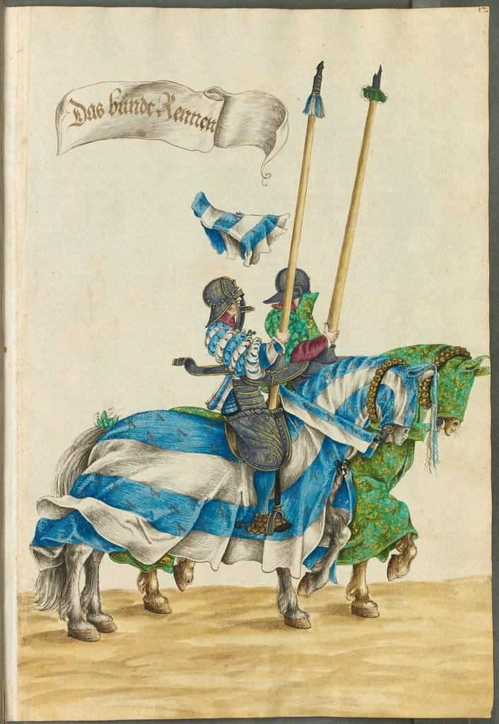Бундреннен. Иллюстрация из «Книги турниров». Автор: Ганс Бургкмайр Младший (1500 – 1559). Время создания: 1540 г.
