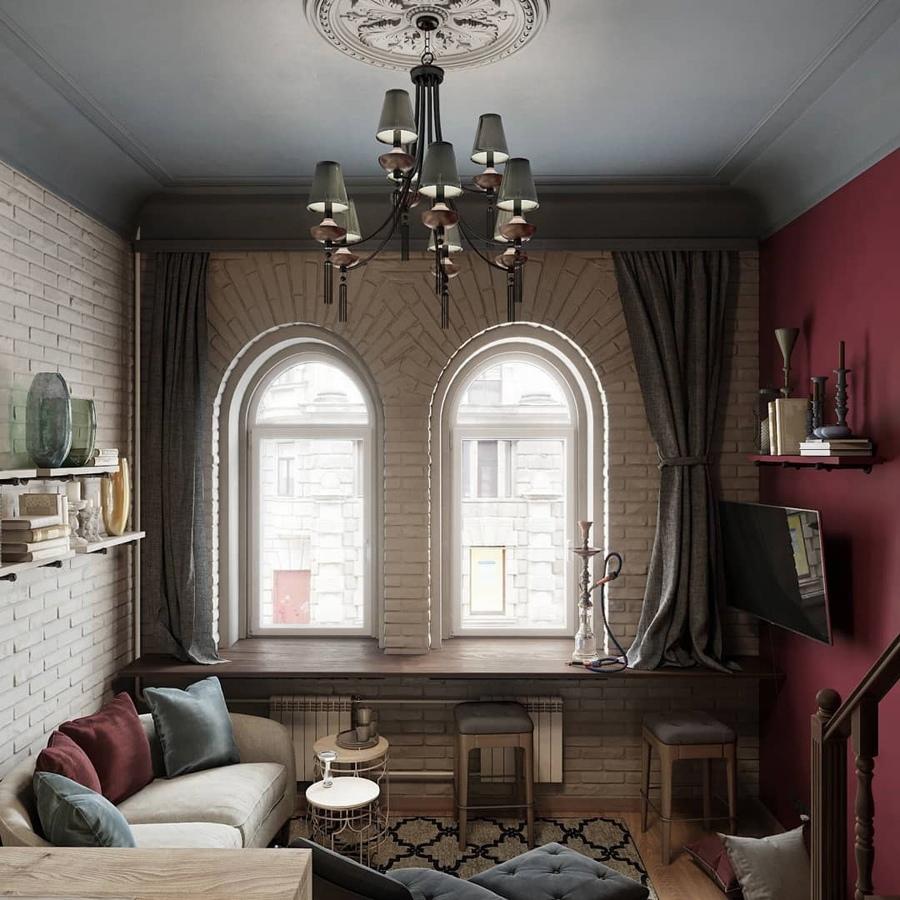 Концепт двухуровневой квартиры 25 кв.