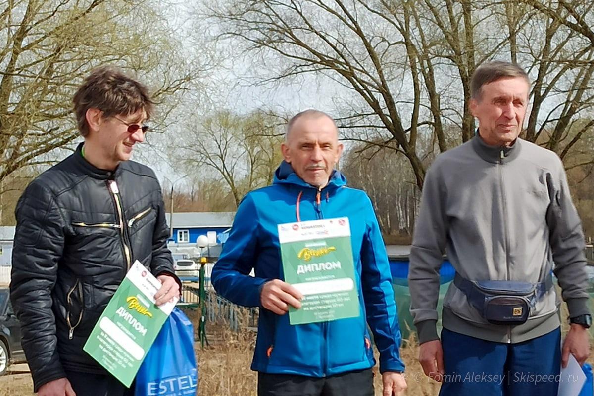 Победители и призёры мужчин 60 лет и ст. на 10 км Притяжение весны 2021 (Ярославль)
