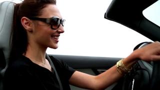 Галь Гадот / Actress Gal Gadot Drives the F TYPE in Pebble Beach Jaguar USA