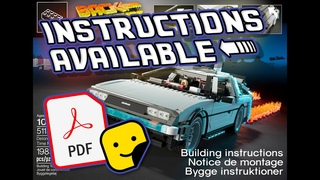 LEGO Delorean Stop Motion Build - INSTRUCTIONS MANUAL AVAILABLE