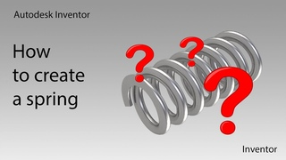 Autodesk Inventor. How to create a spring.