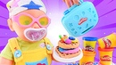 Play Doh oyunları Baby Born oyuncak bebeği ile oynuyoruz Eğitici çocuk videoları