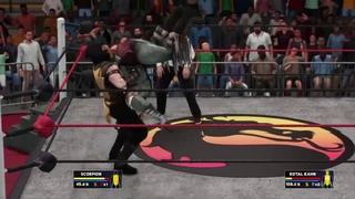 WWE 2K18 - Scorpion [Mortal Kombat] CAW + Knockout Match