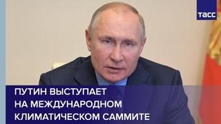 Владимир Путин выступает на Международном климатическом саммите