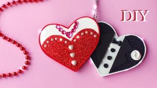 Diy 💕Валентинки из фоамирана. Valentine's Day decoration. Glitter foam sheet craft ideas.