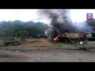 Ополчения молодцы!!!!Украинские военные под обстрелом Града и САУ/Ukraine army near the Shelling