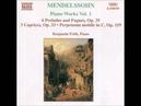 Mendelssohn 6 Preludes, Fugues 3 Caprices. Interprete: Benjamin Frith.
