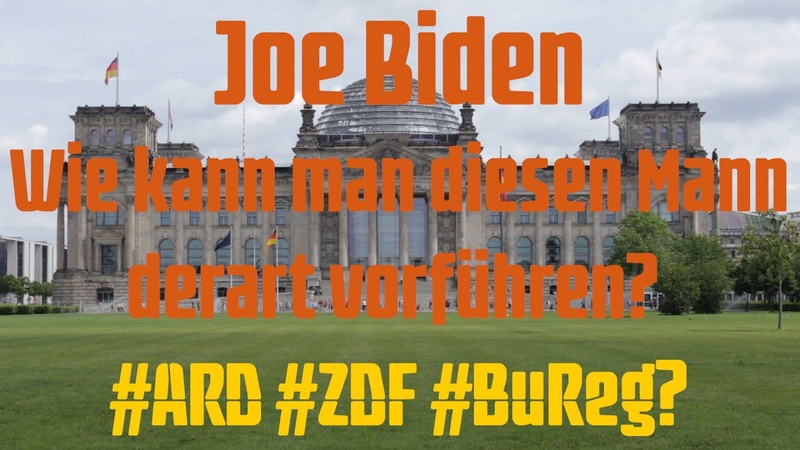 Joe Biden Wie kann man diesen Mann derart vorführen? ARD ZDF BuReg