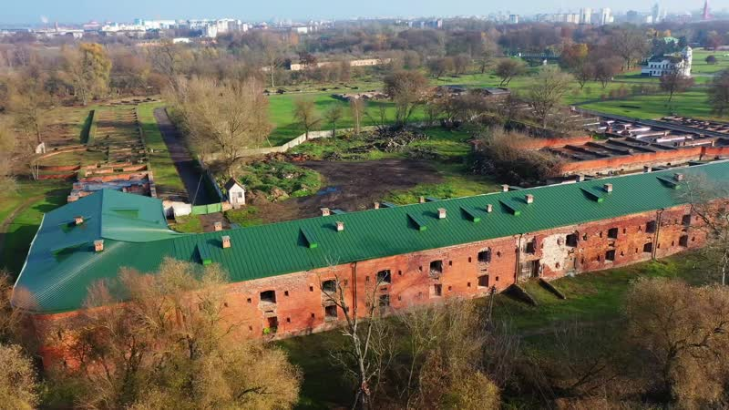 Осенняя Брестская крепость с высоты