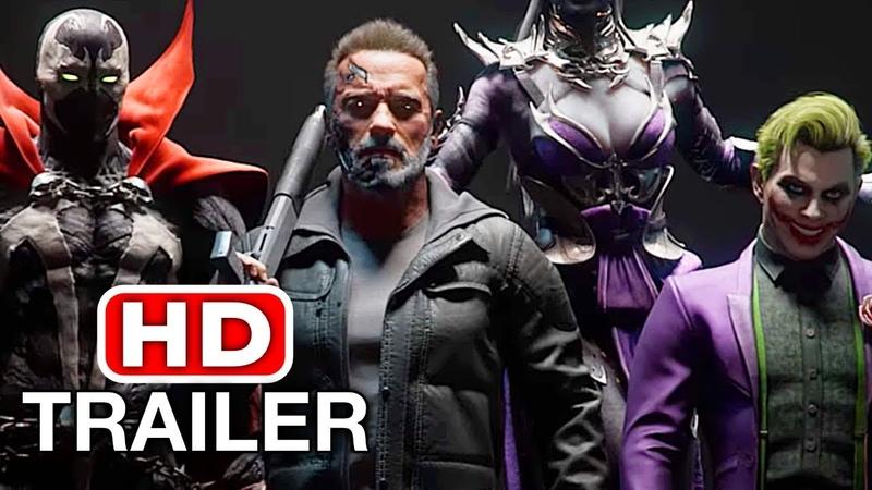 MORTAL KOMBAT 11 Terminator Vs Joker Spawn Trailer MK11 Kombat Pack (2019) HD