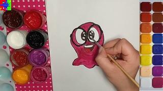 Ловкий Слайм Сэм. Как нарисовать Слайма Сэмми. Простые рисунки для детей.
