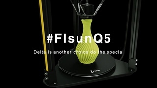 Flsun Q5 3D printer for beginners! Delta is another choice,do the special!