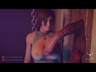 (Sound)Lara Croft Gatekeeper Part 2 : solo masturbation handjob [Tomb Raider;Porn;Horsecock;Blender;R34;Sex;порно;секс;соло]