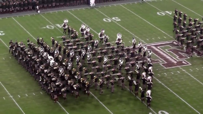 Fightin Texas Aggie Band Halftime Drill Missouri Game at Kyle Field on November 15 2014