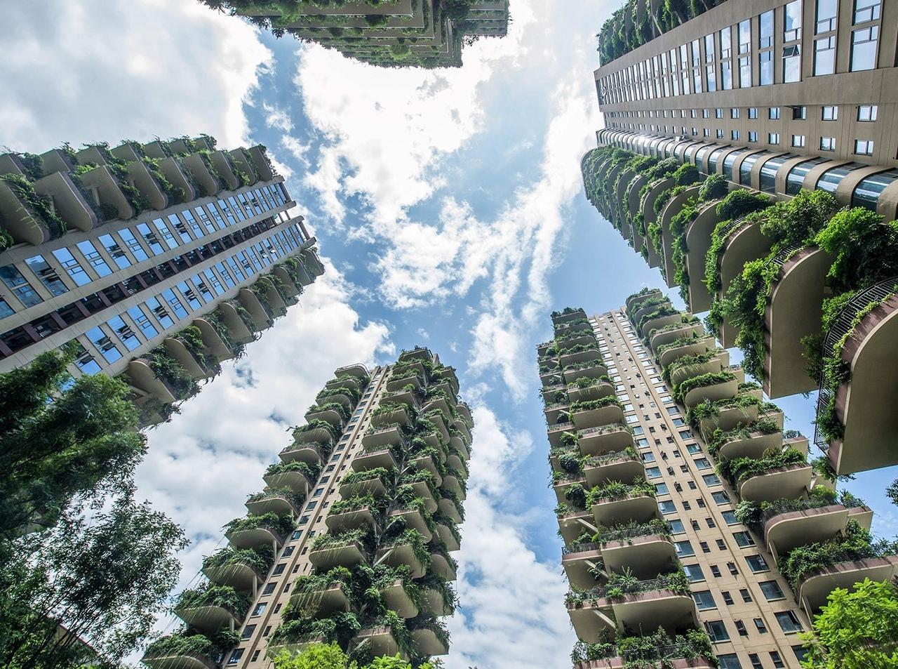 Жилой комплекс в Чэнду: феномен вертикального озеленения