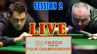 Ronnie O'Sullivan vs John Higgins SESSION 2 [LIVE]   2021 Tour Championship - QF
