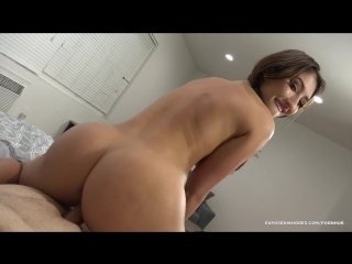 Daddys little whore davina climbs in bed so he can creampie her pussy [pornhubpremium.com]
