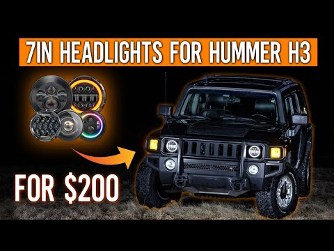 How To Install 7in Jeep Lights On A Hummer H3
