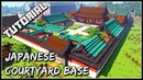 How To Build A Japanese Courtyard Base: Part 2 | Minecraft Tutorial