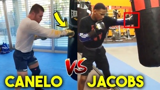 CANELO vs JACOBS TRAINING SIDE BY SIDE- SPARRING, MITTS, STRENGTH AND CONDITIONING