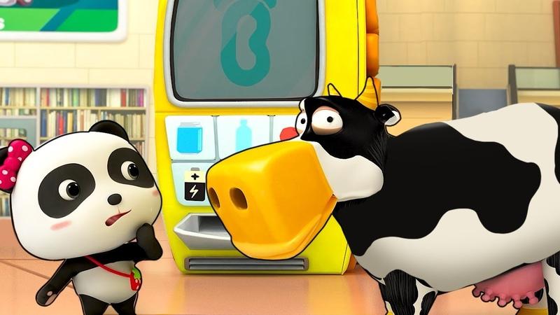 Волшебный торговый автомат Шеф Акула Слоновий хобот Сборник мультфильмов для детей BabyBus