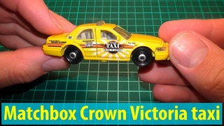 Hot Wheels racing: Matchbox Ford Crown Victoria taxi unboxing