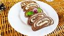 Рулет баунти БЕЗ ВЫПЕЧКИ. Шоколадно-кокосовое наслаждение!