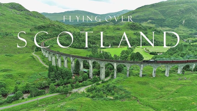 BEAUTIFUL SCOTLAND Highlands Isle of Skye AERIAL DRONE 4K VIDEO