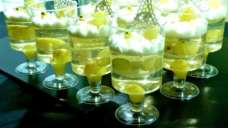 Желе з Шампанського Десерти на фуршет Десерти у склянках Новорічні десерти Фуршет рецепти