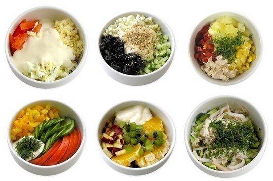 Мини - салатики (6 самых вкусных вариантов):