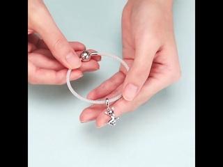 Wostu оригинальный браслет из серебра 925 пробы с подвеской в виде чихуахуа и собаки, ожерелье