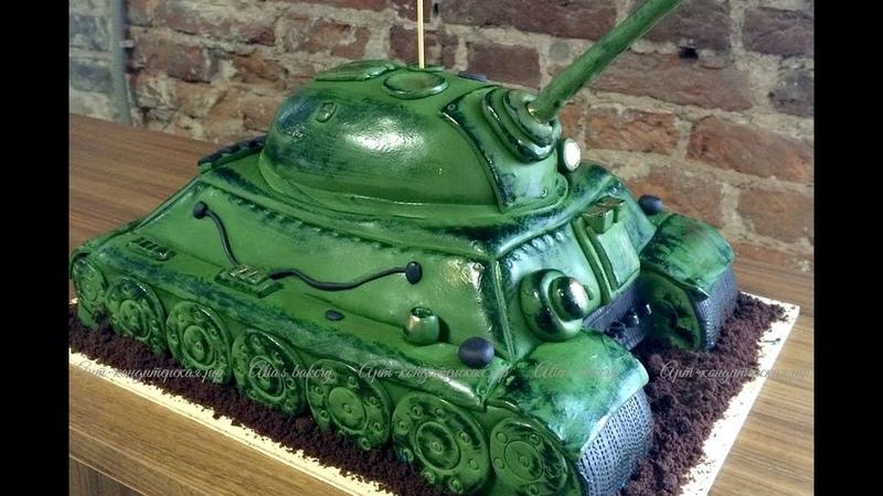 Мини обзор торта в виде танка